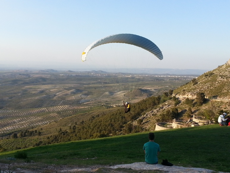 Despegue parapente